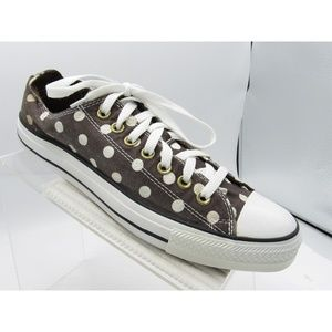 Converse All Star Size 11 Brown Polka Dots Sneaker